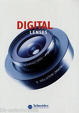 Prospekt brochure Schneider Digital Lenses Digitalobjektive 2014 Digitar Apo-Dig