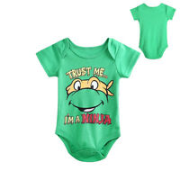 Hot Toddler Baby Boys Girls Cartoon TMNT One-piece Romper Jumpsuit 0~12M