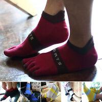 Hot New Men's Women's Socks Pure Cotton Sports Five Finger Socks Toe Socks TBYB