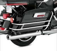 Chrome SaddleBag Guard Rail Bracket For Harley Touring FLHR FLHT FLHTCUSE 97-08
