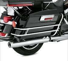 Chrome Saddle Bag Guard Rail Bracket For Harley Touring FLHR FLHT FLHTCUSE 97-08
