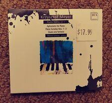 Krzysztof Meyer: Piano Works, Vol. 1 (CD, Nov-2013, Dux Records)