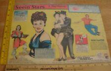 Paulette Goddard Vera Zorina Seein' Stars Feg Murray Sunday 1940s color panel 6d