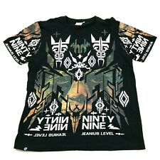 Akademiks Jeanius Level Mens Shirt Size L Large Full Front Graphic Tee Baggy Fit
