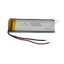 3.7V 1000 mAh Polymer Li Battery Li-Po For Mp4 GPS bluetooth headset DVD  901860