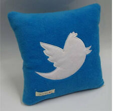 Twitter Tweet Bird Applique & Embroidered Cushion Pillow Cute Birthday Present
