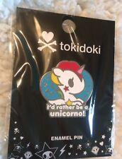 SDCC Comic Con 2017 Tokidoki Pin Enamel Set I'd Rather Be A Unicorno IN HAND