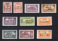 ALEXANDRETTA / SYRIA / TURKEY Stamps: Incomplete Scott #1-11, 1938, MH OG