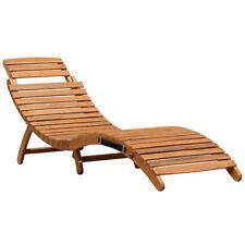 Chaises longues de jardin et de terrasse pliable en bois