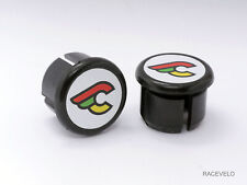 cinelli white Plugs Caps guidon tapones bouchons lenker vintage style flat New