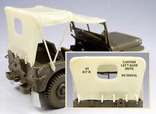 El bodi 1/35 #35038 Jeep Willys MB Lona Set con enmascaramiento película para Tamiya