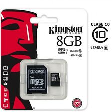 Tarjeta de memoria memory card Micro SD Kingston 8GB 16GB 32GB 64GB class 10