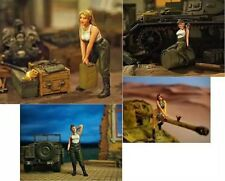 1:35 German Tank Female Maint Crew World War 2 (WW2) 4 Figures Resin Model Kit