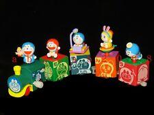 Bandai Doraemon train figure wind up gashapon (full set of 5 figures)