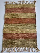 Hand Made Jute Rug Mat, Striped Out/ In Door Mat 50x80 Cm, Door Mat