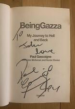 SIGNED COPY: Paul Gascoigne Being Gazza 1st Edition Signed Hardback