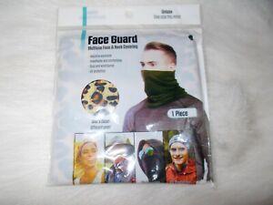 NEW Unisex Multiuse Face Mask & Neck Covering Gaiter Scarf Tube Headband Leopard
