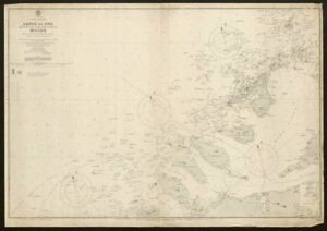Norway coast sea chart. Møre og Romsdal. Molde approaches. Admiralty 1904 map