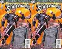 Blackest Night: Superman #1 Third Printing (2009) DC Comics - 2 Comics