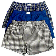 Tommy Hilfiger Woven Boxers Men's Underwear Extra Large XL 40-42 Cotton 3 Pack