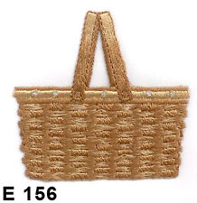 5Pcs~Picnic Basket~Iron On Embroidered Applique