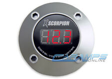 NEW XSCORPION SILVER RED LED CAR STEREO DIGITAL VOLTAGE METER AMP 12 VOLT POWER