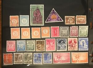 INDONESIA  postage stamps lot of 29 different old