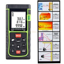 Handheld Digital Laser Point Distance Meter Measure Tape Range Finder 40m/131ft