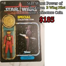 Star Wars Power of the Force B Wing Pilot witb Collector's Coin