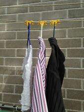 NEW Clothesline Cord Coat Hanger Clip | Clothes Shirt Drying Hanger Hook Peg