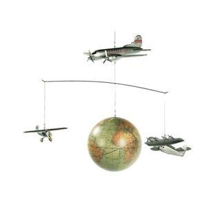superbe mobile avion Autour du monde, neuf pour chambre d'enfant, déco salon...