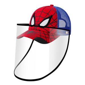 Face Shield Hat Detachable Anti-Spitting Protection Baseball Cap For Kids Boys