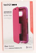 Tech21 Evo Wallet Hybrid Ultra Thin Flip Case Cover for Samsung Galaxy S6 Pink