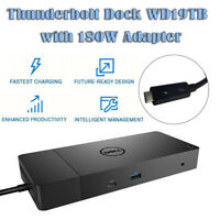 For Dell WD19TB 180W Adapter Thunderbolt 3 USB-C Display Port Docking Station