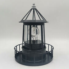 Lighthouse Solar LED Light Rotating Lamp IP65 Waterproof Beacon Garden Decor