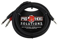 Pig Hog - Pbs3410 - Stereo Breakout Cable 3.5mm to Dual 1/4 -10 ft.- Black