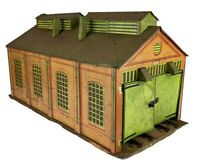 MECCANO HORNBY SERIES O GAUGE TIN PLATE TWIN ROAD/RAIL ENGINE SHED MODEL No.2