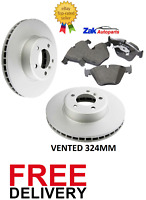FOR BMW 5 SERIES 2004-2010 E60 530D 530i PAIR OF FRONT BRAKE DISCS & PADS SET