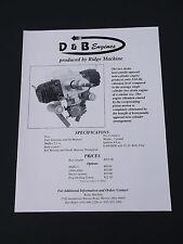 VINTAGE D & B MODEL- RIDGE MACHINE  R/C AIRPLANE BROCHURE 1 PAGE  *EX-COND*