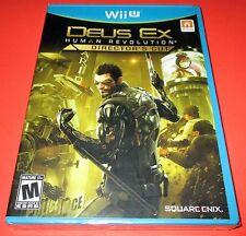 Deus Ex: Human Revolution - Director's Cut Nintendo Wii U *New-Sealed-Free Ship!