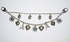 Dirndl Dress Charivari German Necklace Chain Oktoberfest EDELWEISS DEER HEART