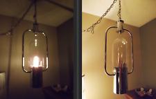 SteamPunk Swag Lamp Vintage Chrome MCM Industrial Space Atomic Look Sci-Fi