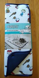 Peanuts Snoopy Drying Mats 2 Pack Baseball Game Charlie Brown Lucy NEW NIP