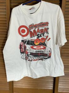 Vintage Chase Jimmy Spencer Target NASCAR Print Tshirt Sz XL