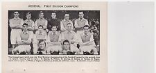 Team Pic from 1953-54 FOOTBALL Annual - ARSENAL + Lofthouse BOLTON WANDERERS