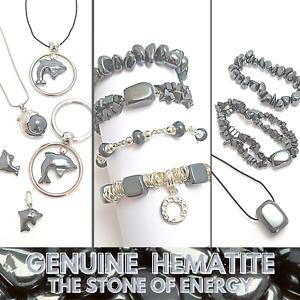 HEMATITE Genuine GEMSTONE Jewellery Wholesale Pack Bracelets Pendants or Charms