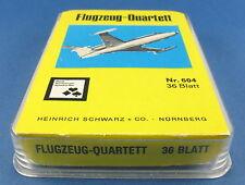 Flugzeug-Quartett - Nürnberger Spielkarten Nr. 604 - von 1968 - H. Schwarz