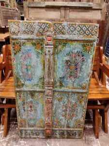 old used Vintage wooden doors window shutter reclaimed doors a
