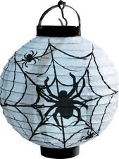 Halloween ILLUMINARE LED Carta ragnatela lanterna bianco & NERO FANTASTICO FESTA