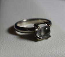 Tiffany & Co. Paloma Picasso Rock Crystal Sugar Stacks Sterling Silver Ring
